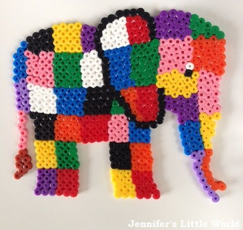 Elmer Elephant Hama bead design