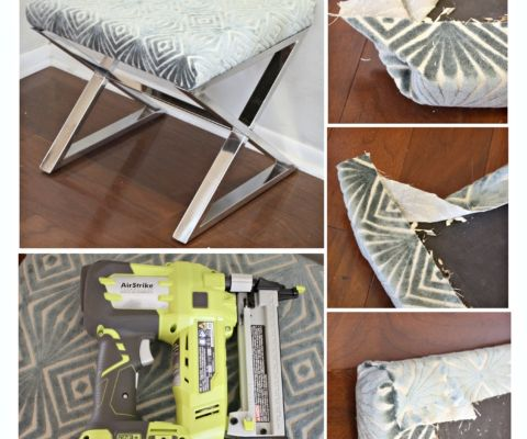 3 Easy Shortcuts for recovering chairs and benches {The Creativity Exchange}