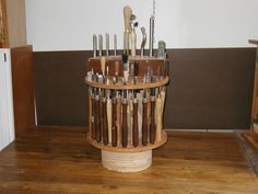 wood lathe tool rack round circular one...