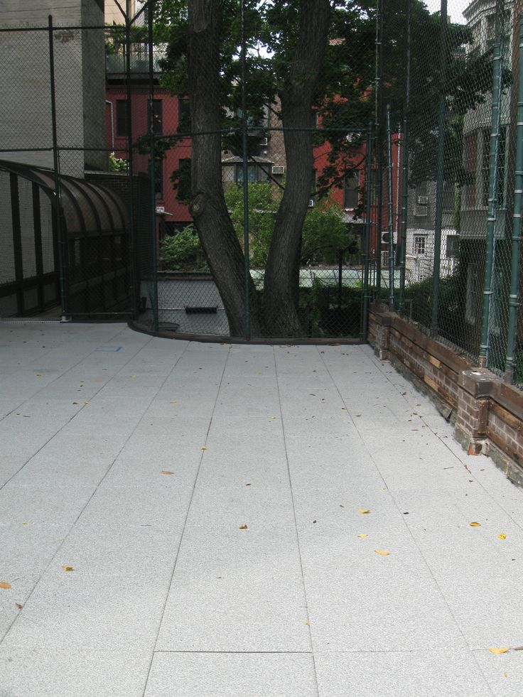 Dalton School: Outdoor Science Classroom - New York, NY | @ECORE Commercial Flooring #PlayGuard Carnival | #spartansurfaces #RecycledContent #MadeInUSA #OutdoorFlooring #RainLab