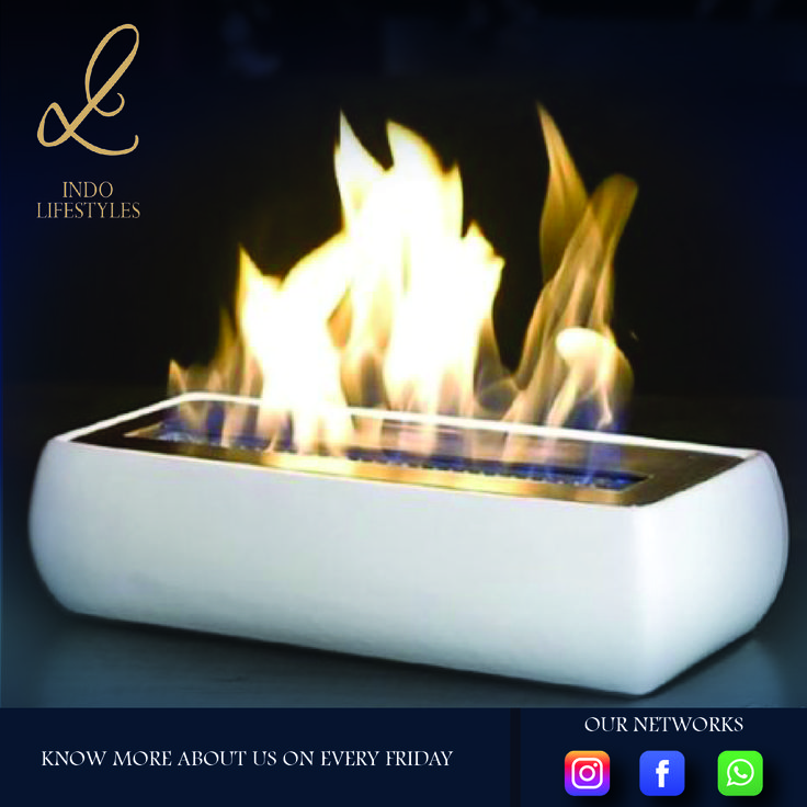 The burner is a metal container with various shape and dimensions. The burner is filled with fuel, usually it is bioethanol. Bio ethanol does not require ventilation or expensive remodeling projects. Fuel is poured into the burner and lit with an extended candle lighter as suggested.