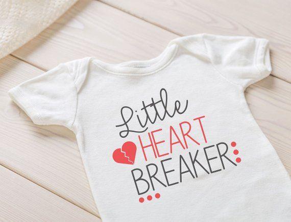 Little Heartbreaker Valentines Onesie  Unisex Custom Valentines Onesie
