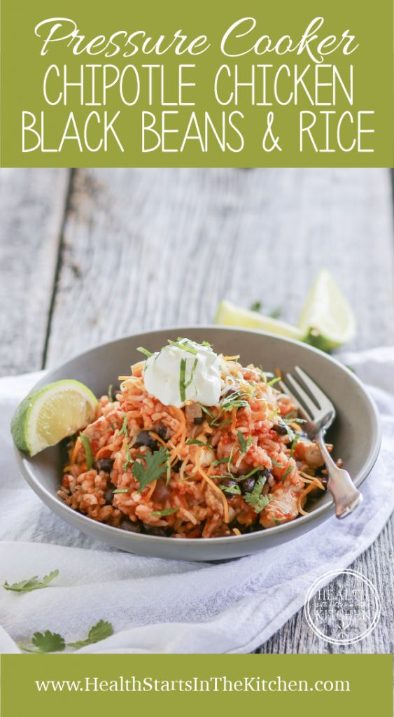 Pressure Cooker Chipotle Chicken Black Beans and Rice - Gluten Free