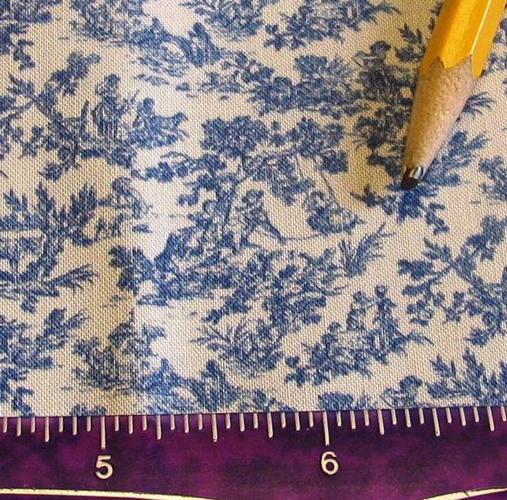 Dollhouse Miniature Victorian UPHOLSTERY FABRIC Blue White Toile No 2 by SydneyStyle on Etsy https://www.etsy.com/listing/172353470/dollhouse-miniature-victorian-upholstery