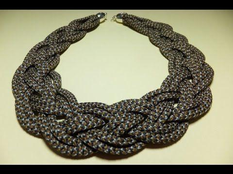 DIY Collares artesanales en cordon de algodon  no. 338 Manualidadeslahormiga - YouTube