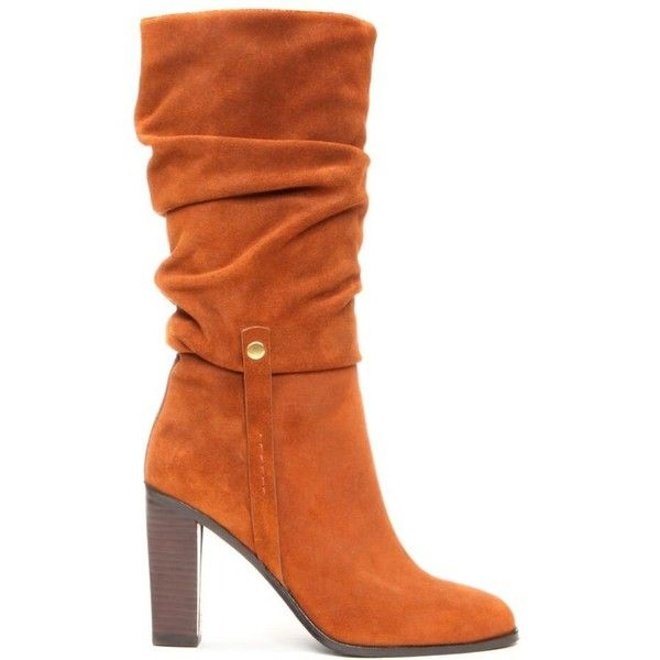 Donald J Pliner Women's ODESSA - Oily Suede and Burnished Calf Slouch... ($199) ❤ liked on Polyvore featuring shoes, boots, donald j pliner boots, suede slouch boots, stretchy boots, high heel boots and slouchy boots