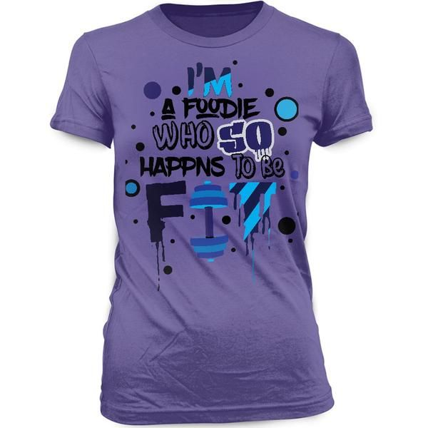 FF Foodie Purple Women T-Shirt - $16