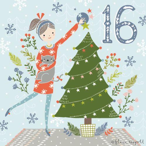 Flora Waycott: DAY 16 - Decorating the Christmas tree! xx