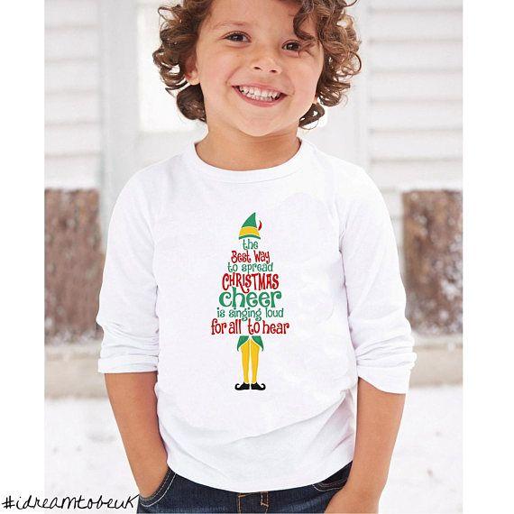 Christmas Cheer long sleeve top  Buddy the Elf Christmas