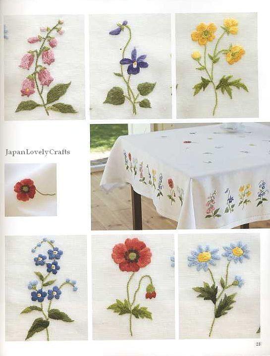 Wonderful Embroidery by Onoe Megumi Flower by JapanLovelyCrafts