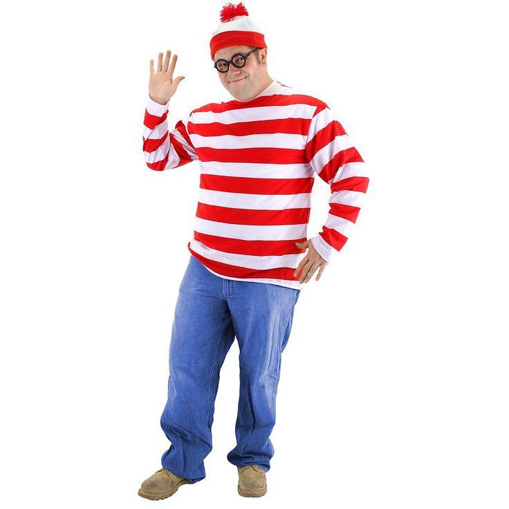 Plus Size Where's Waldo Costume - Adult Plus, Men's, Size: 2XL, Multicolor