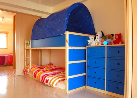 Wondering if this is the solution for our nearly 3 and 5 for Bunk bed alternative