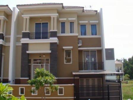 Desain cat rumah warna coklat krem Rumah minimalis