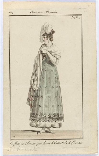 Fashion plate, 1814, Journal des Dames et des Modes