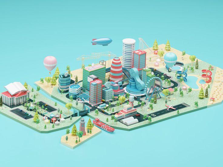 City  by Folio Illustration Agency - Dribbble