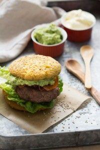 Paleo hamburger broodje
