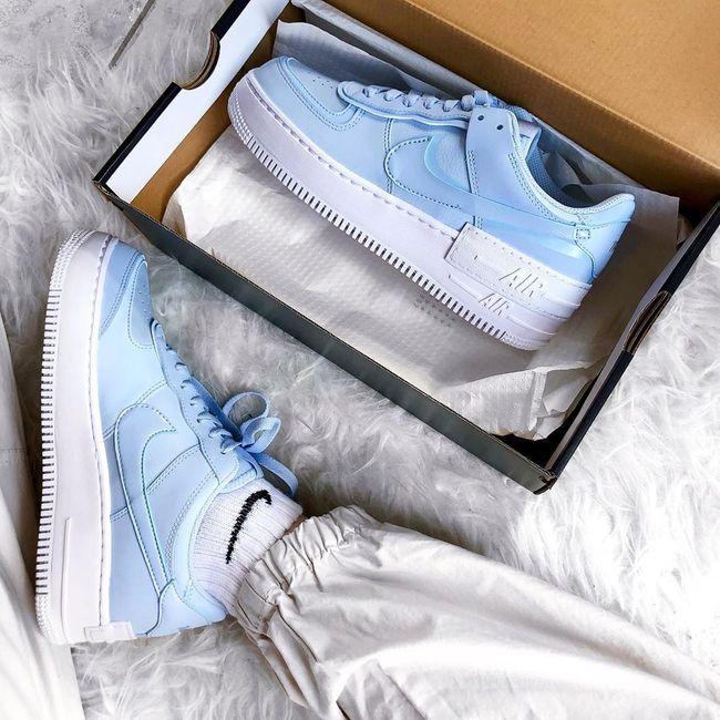 nike air force 1 cuir bleu