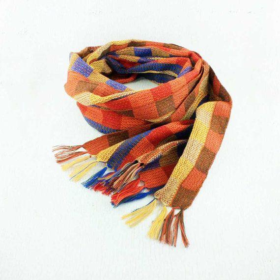Orange Plaid Scarf  Scarves for Women  Orange and Blue Scarf   https://www.etsy.com/listing/241583252/orange-plaid-scarf-scarves-for-women
