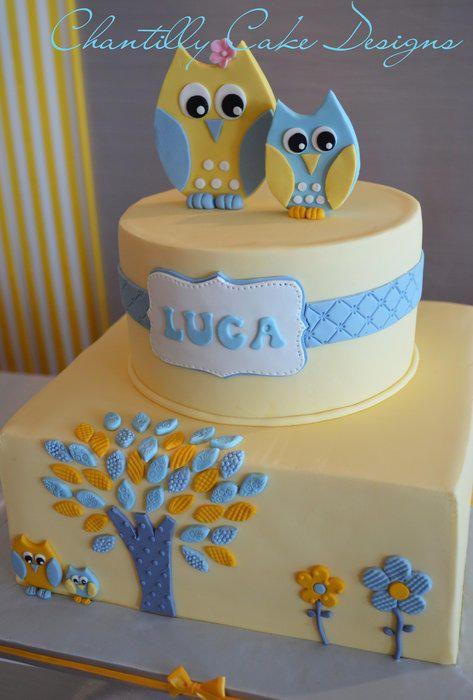 Owl Baby Shower Cake----OOOOOOOHHHHH! I need THIS ONE!!! I think I could make that....
