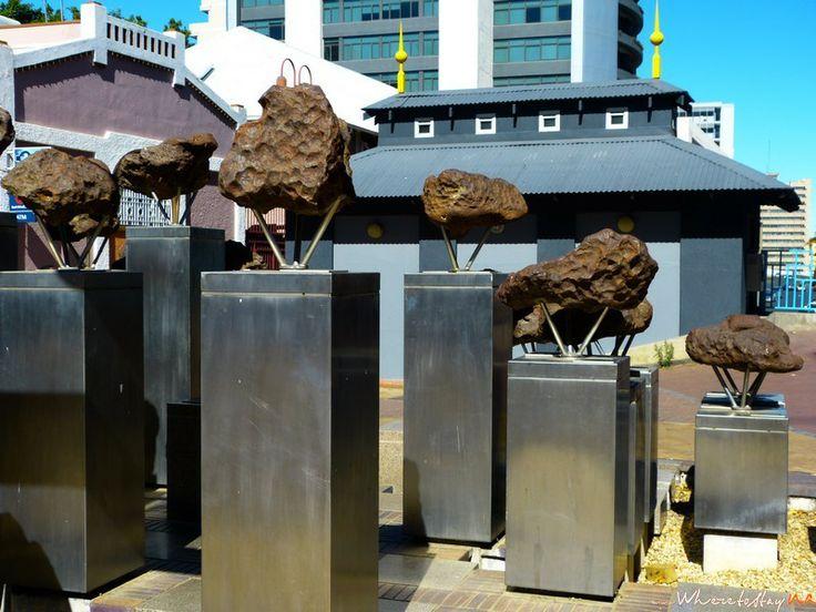 Meteorite Displays  #Namibia #Windhoek #Travel