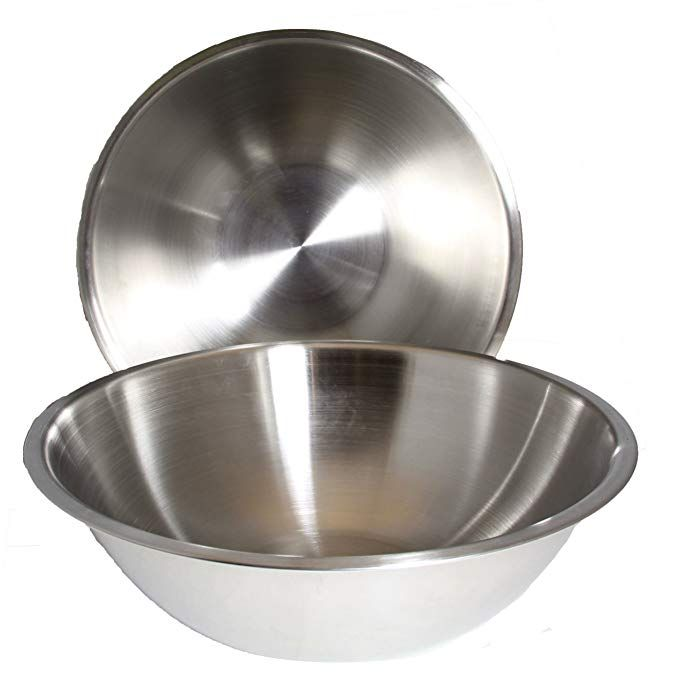 8 Quart Set Of 2 Mixing Bowls Stainless Steel Professional Chef Commercial Kitchen By Winco 13 25 Inches Diameter Flat Base Review Stainless Steel Mixing Bowls Mixing Bowls Bowl