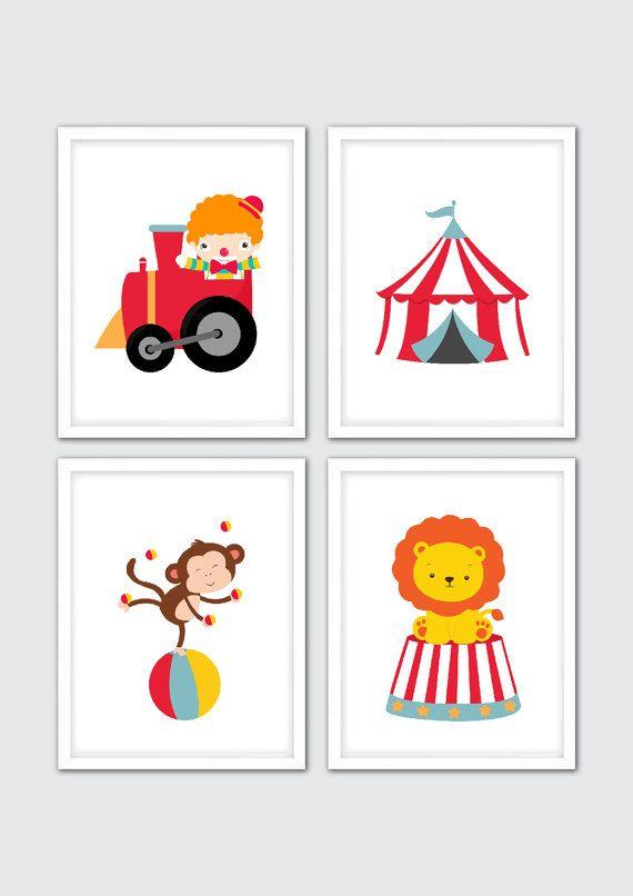 Cirque Baby Nursery Art Print - complément parfait à votre décor de chambre d'enfant! Cadre non inclus.  DÉTAILS D'ARTICLE ▶  Nombreux formats d'impression disponibles, choisissez la taille dans le menu déroulant. Les caractéristiques de la liste les impressions de la plupart des tailles standard, cependant, si vous avez besoin d'une taille personnalisée, s'il vous plaît envoyer un message et je vais vous citer un prix. • Tirages sont imprimés sur des imprimantes haut de gamme avec des…