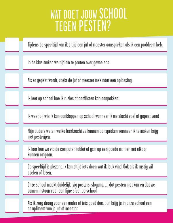 Checklist: Wat doet jouw school tegen pesten? | Ketnet