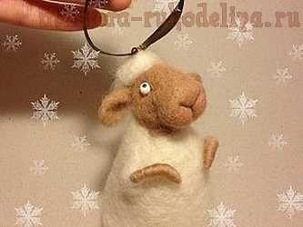 Мастер-класс по сухому валянию: Милая овечка