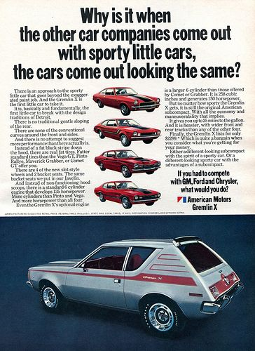 1971 AMC American Motors Gremlin X Advertising Hot Rod Magazine February 1971 | Flickr - Photo Sharing!