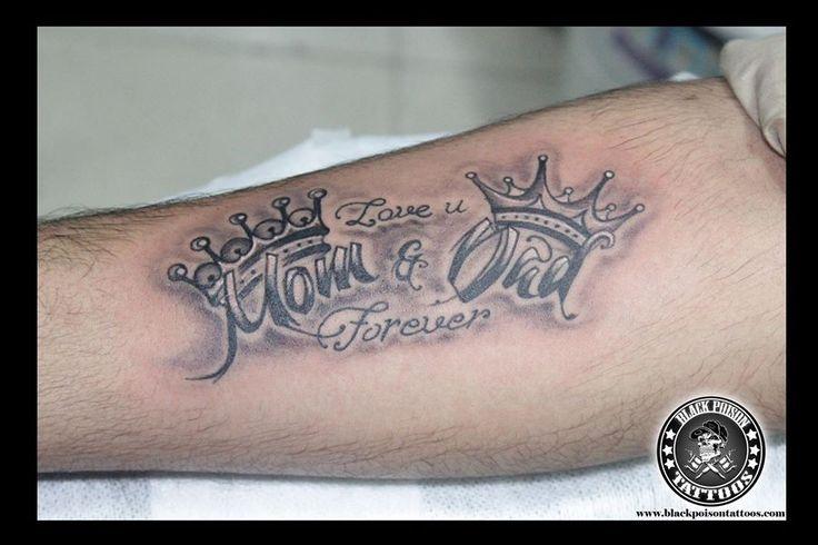 mom dad tattoo https://www.facebook.com/blackpoissontattoo