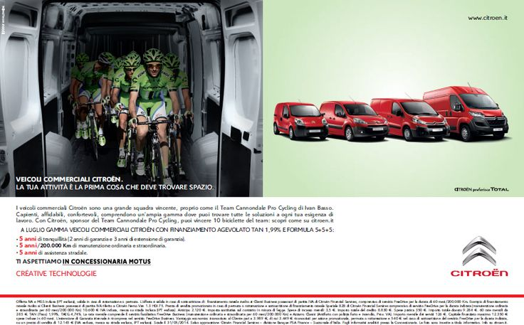 VEICOLI COMMERCIALI - TEAM CANNONDALE PRO CYCLING