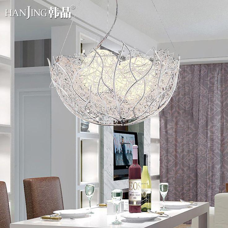 СВЕТОДИОД гнездо люстра творческая личность три головы лампы свет в спальне ресторан обеденный стол современный минималистский лин