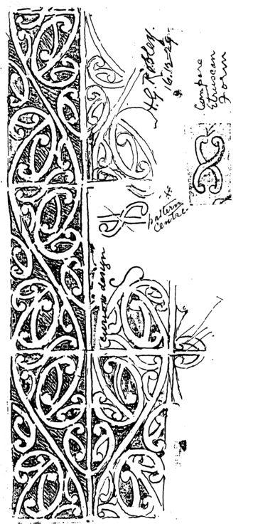 159. [Kowhaiwhai Pattern] Canterbury Museum