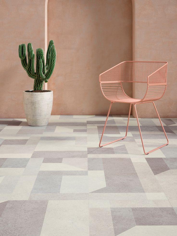 Interieurinspiratie: pvc vloeren met dessin Jumble Stone. Expressive Floors uit de Impress collectie van Moduleo #vloeren #pvcvloer #moduleo #interieur #houtenvloer