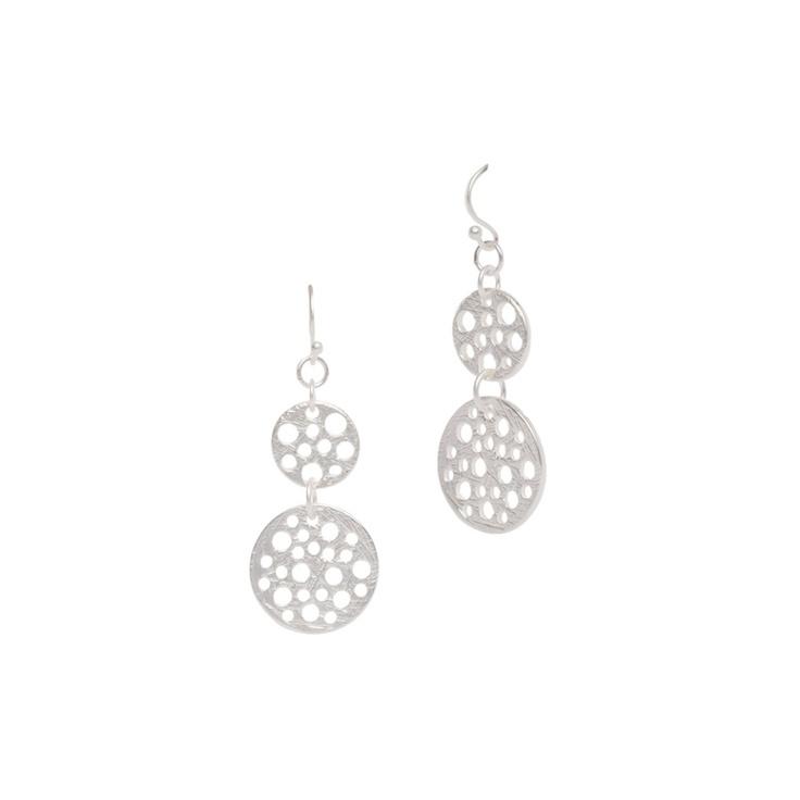 I love the Geranium Double Circle Earrings from LittleBlackBag