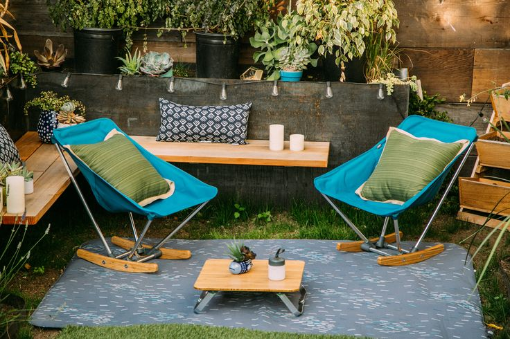 Even the smallest patio can rock- just hook yourself up with an evrgrn campfire rocker! #sponsored