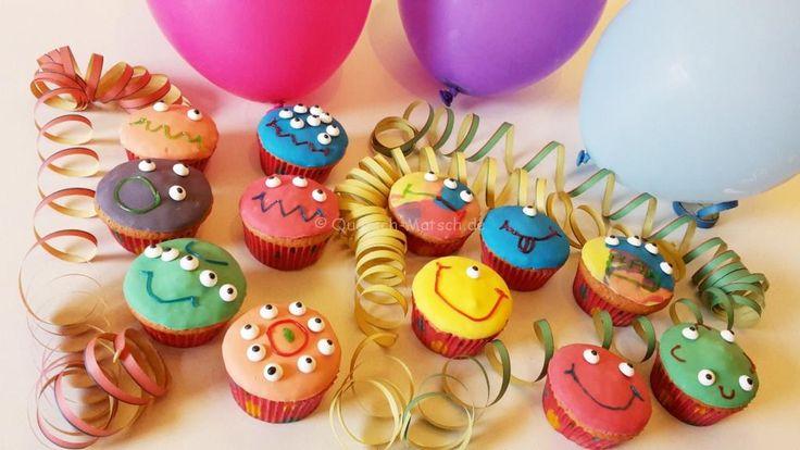 Monster Muffins für die Halloweenparty | Quatsch-Matsch.de