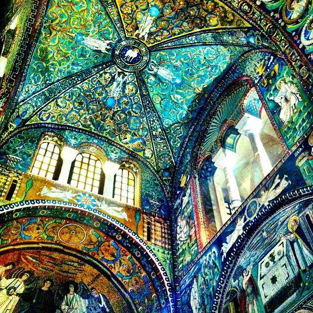 Basilica di San Vitale. Minuscule ceramic pieces make up this mosaic. The passion is impressive - Instagram by @Ava Apollo