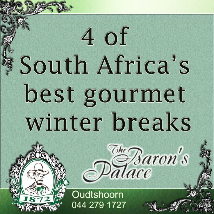 4 of South Africa's best gourmet winter breaks. Here's a pick of the best destinations in South Africa for foodie holidays guaranteed to warm you up. Click here to read more: http://besociable.link/2q #southafrica #gourmet #winter