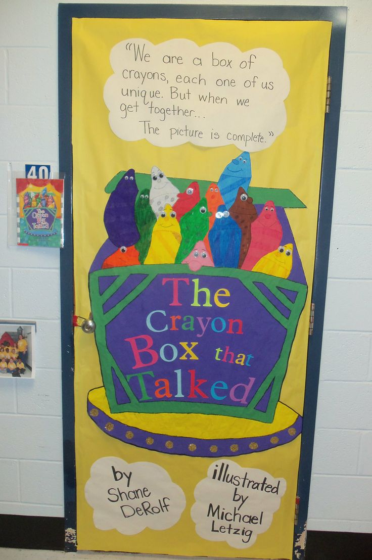 Language Classroom Decoration ~ The crayon box that talked door decorating