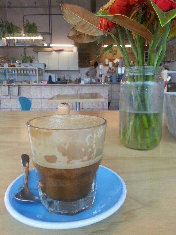 """My new addiction """" Almond Lattes """" thanks #sipkitchen for the introduction ♡"""