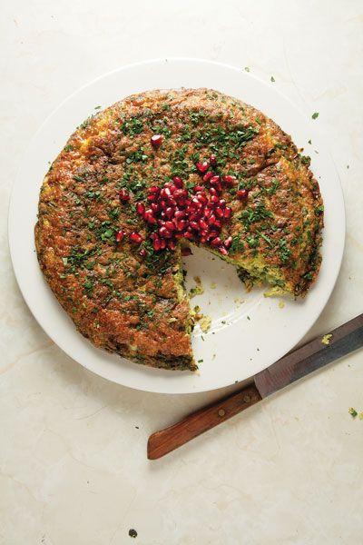 Iranian Kuku Sabzi (Leek and Herb Frittata)