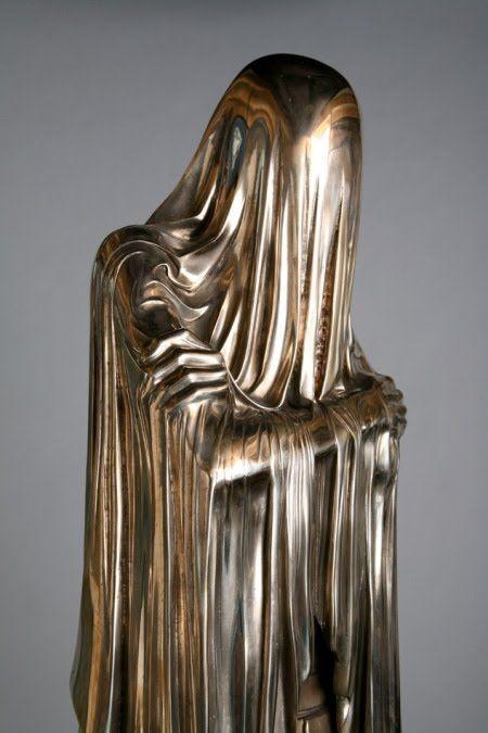 liquid metal statue.