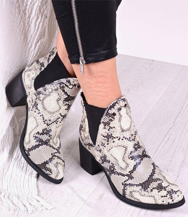 Kowbojki Damskie Kowbojki Wezowy Wzor Kowbojki Na Obcasie Cowboy Shoes Botki Wezowa Skora Shoes Cowboy Boots Boots