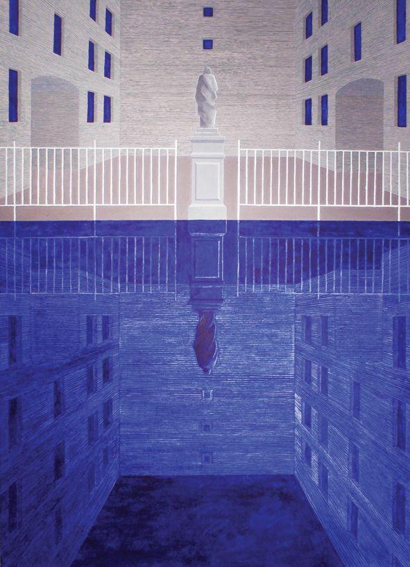 Dyju Dyjewska, 180 stopni, 180x130cm, oil on canvas