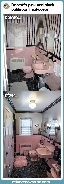 Robert's pink and black bathroom makeover - Retro Renovation