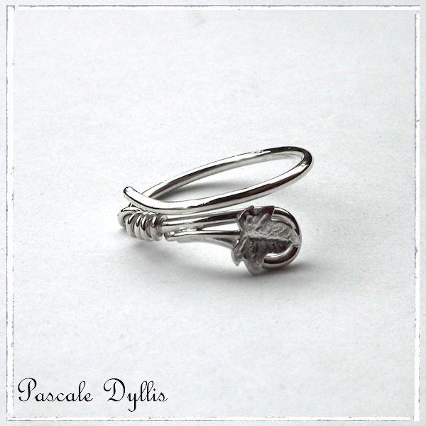 anneau elfique feuille de lierre pour homme argent massif 925 anneau ...