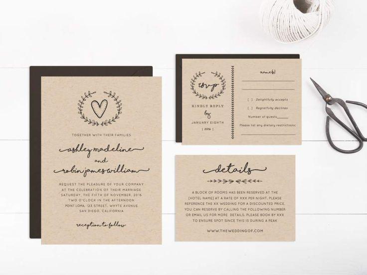 abbastanza Oltre 25 fantastiche idee su Inviti a matrimoni rustici su  KG85