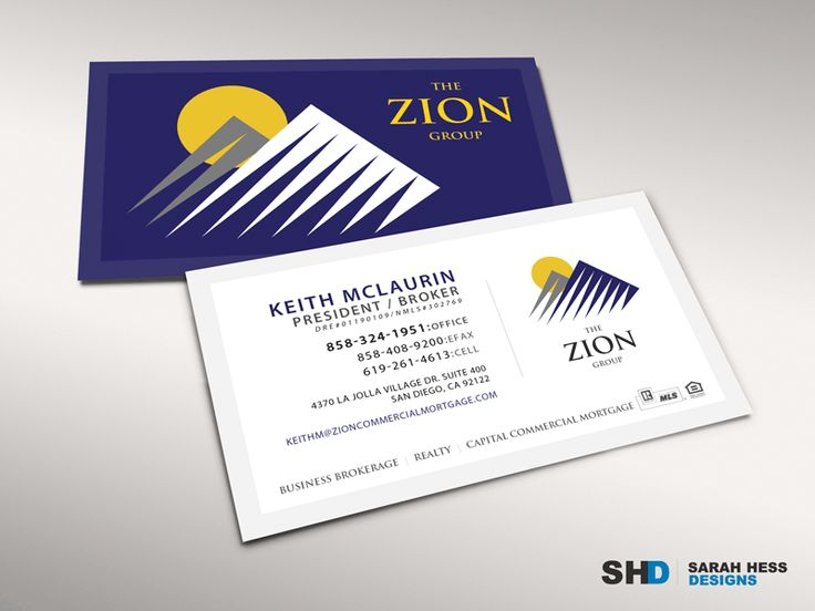 10 best business cards sarah lorenzen images on pinterest the zion group real estate professionals needed a makeover starting with their new bold and business card colourmoves Gallery
