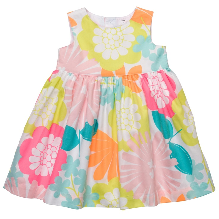 Floral Sateen Dress Set | Baby Girl Clearance